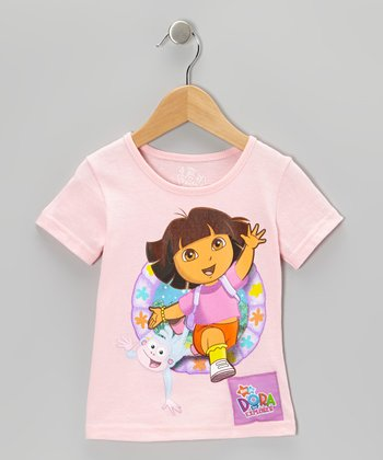 Pink Dora Talking Tee - Toddler
