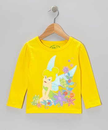 Yellow Tinker Bell Long-Sleeve Tee - Toddler & Girls
