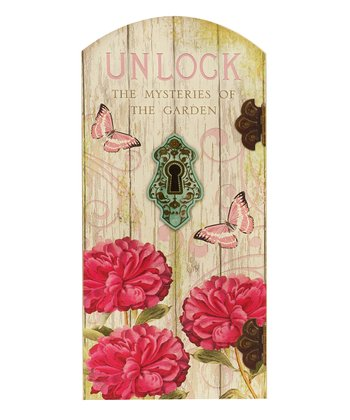 'Unlock' Secret Garden Plaque