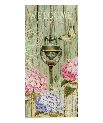 'Welcome' Secret Garden Plaque