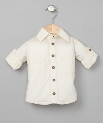 Vanilla Half-Sleeve Woven Shirt - Infant, Toddler & Boys