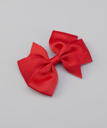 Red Savannah Bow Clip