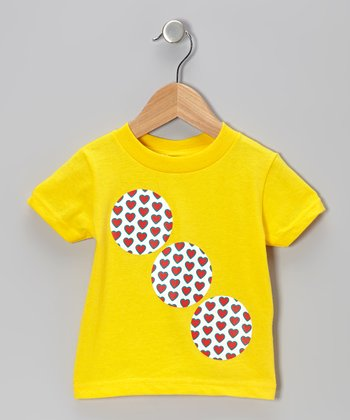 Yellow Heart Circle Tee - Infant & Toddler