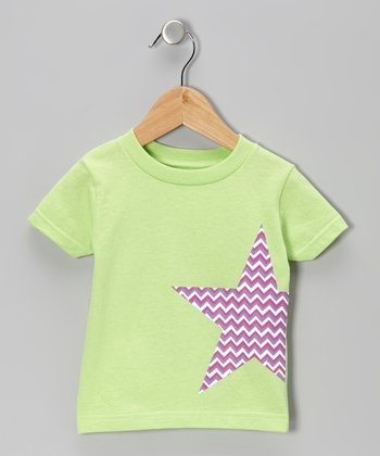 Key Lime Zigzag Star Tee - Infant & Toddler