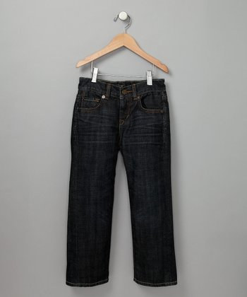 Dark Blue Relaxed Straight Leg Jeans - Toddler & Boys