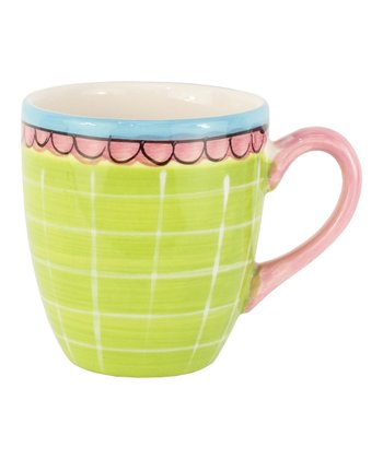 Green Scallop Mini Mug