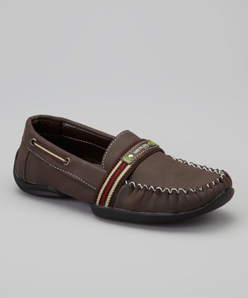Brown Stripe Loafer