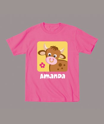 Raspberry Cow Personalized Tee - Infant & Toddler