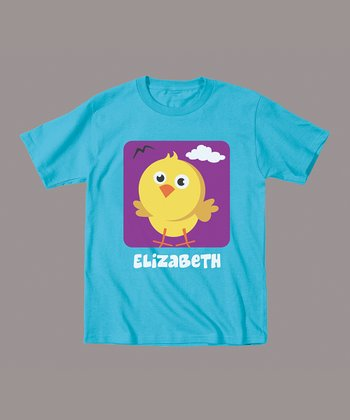 Turquoise Chick Personalized Tee - Infant & Toddler