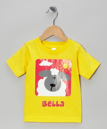 Yellow Sheep Personalized Tee - Infant & Toddler