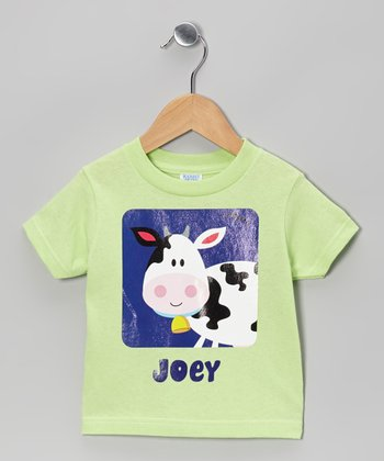 Key Lime Cow Personalized Tee - Infant & Toddler