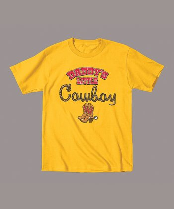 Yellow 'Daddy's Little Cowboy' Tee - Toddler & Boys
