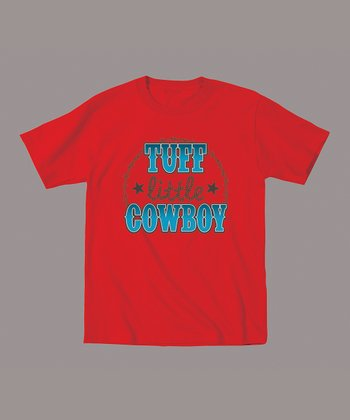 Red 'Tuff Little Cowboy' Tee - Toddler & Boys