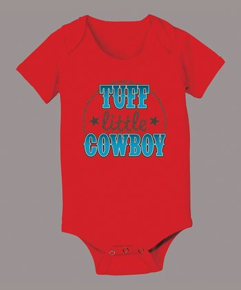 Red 'Tuff Little Cowboy' Bodysuit - Infant