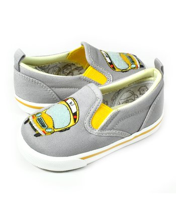 Gray & Yellow ABC Slip-On Shoe