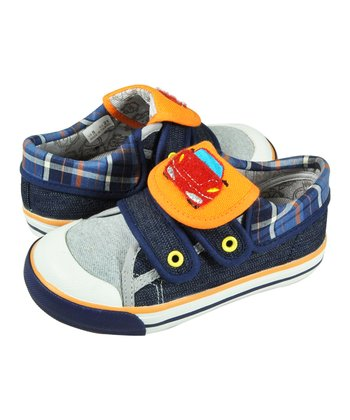 Blue Plaid Wheels Shoe