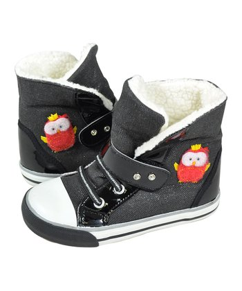Dark Gray & Black Winter Wonderland Hi-Top Sneaker