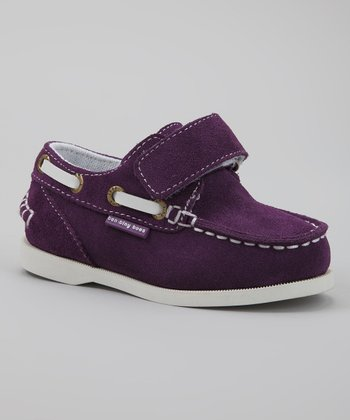 Purple & White Spinaker Boat Shoe