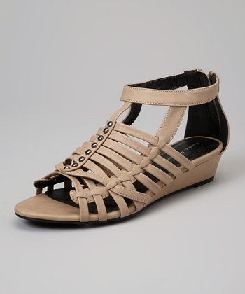 Beige Jimmy Wedge Sandal