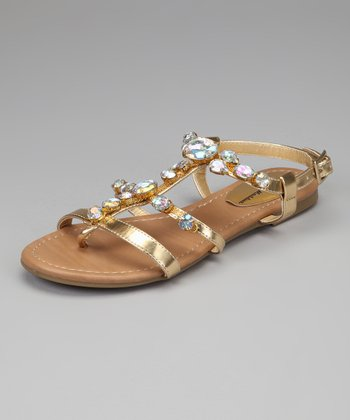 Gold Jewel Walter Strappy Sandal
