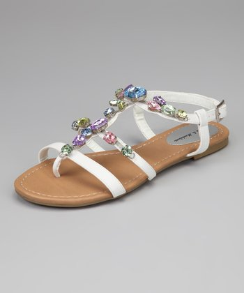 White Jewel Walter Strappy Sandal