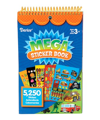 Blue Mega Sticker Book