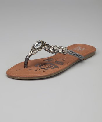 Pewter Beaded U-Treasure Sandal
