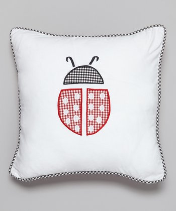 Garden Ladybug Throw Pillow