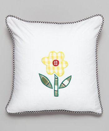 Garden Flower Throw Pillow