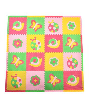 Pink & Green Bugs Playmat Set