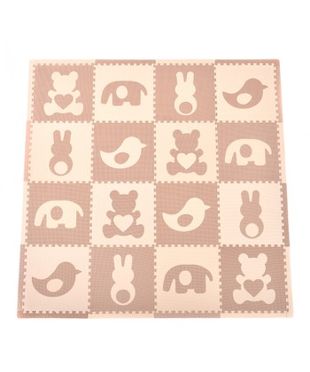 Brown Teddy & Friends Play Mat Set