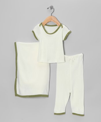 Cream Soft as Pashmina Knit Layette Set