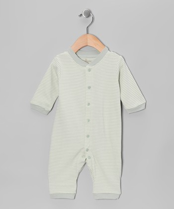 Sage Stripe Organic Romper - Infant