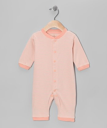 Salmon Stripe Organic Romper - Infant