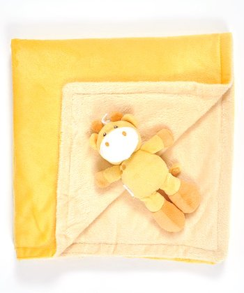 Yellow Animal Friend Stroller Blanket & Plush Toy