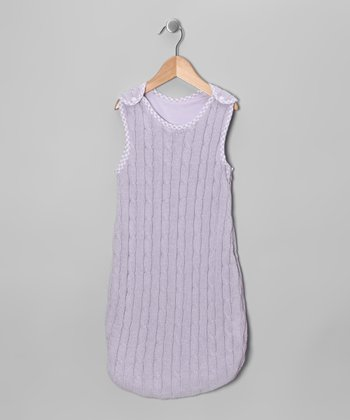 Lavender Cable-Knit Sleeping Sack