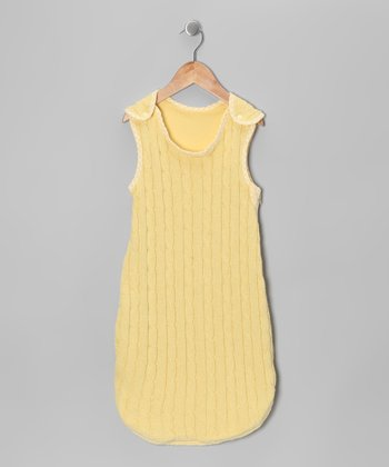 Yellow Cable-Knit Sleeping Sack