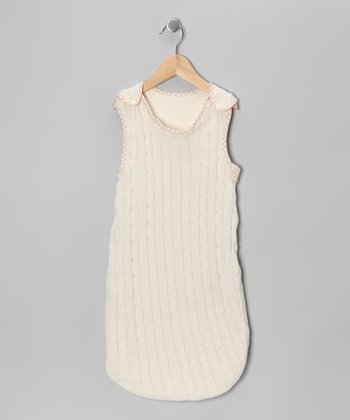 Natural Cable-Knit Sleeping Sack