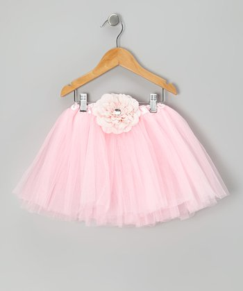 Pink Flower Tutu - Toddler & Girls
