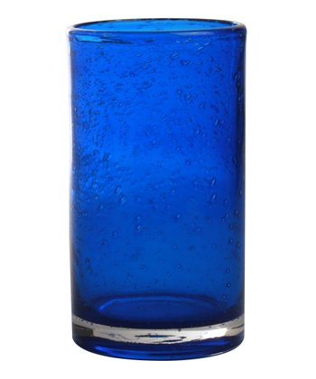 Indigo Bubble Glass Tumbler