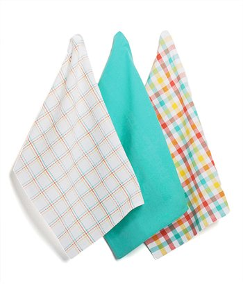 Plaid & Herringbone Dish Towel Set