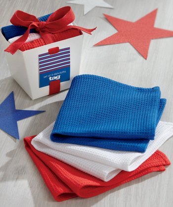 Red, White & Blue Dishcloth Set