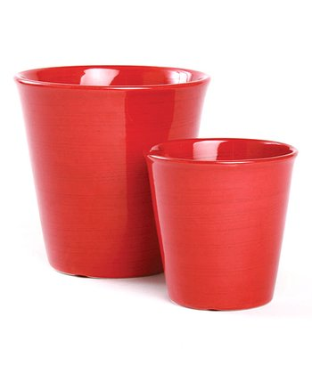 Red Autumn Weave Flower Pot Set