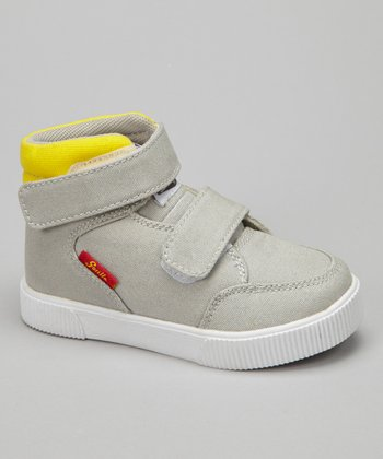Gray & Yellow Boulder Hi-Top Sneaker