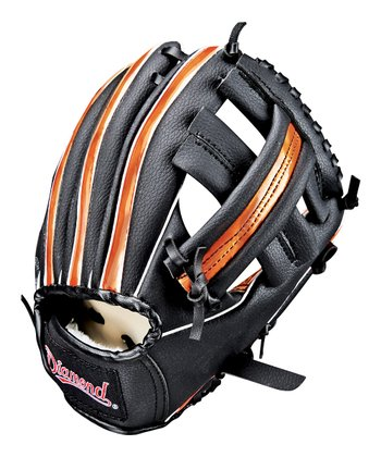 "Black & Orange	9.5"" Right-Handed T-Ball Glove & Ball"