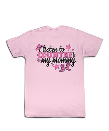 Light Pink 'Listen to Country' Tee - Toddler & Girls