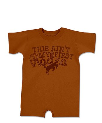 Texas Orange 'This Ain't My First Rodeo' Romper - Infant