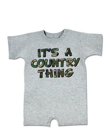Heather Gray 'It's a Country Thing' Romper - Infant