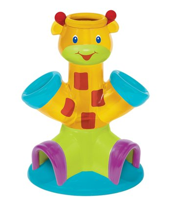 Yellow Giraffe Drop & Giggle Ball Toy