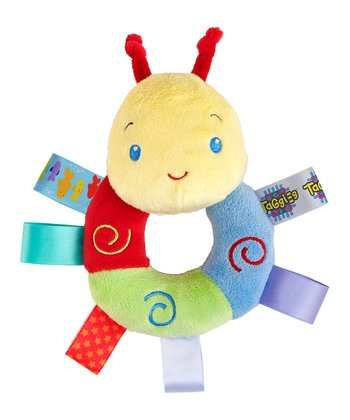 Taggies Blue & Red Caterpillar Cozy Rattle Pal